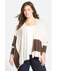 Sejour | Brown Reversible Cape Sweater | Lyst