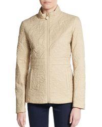 Tahari | Metallic Manila Quilted Short Jacket | Lyst
