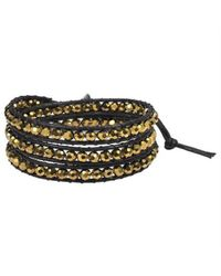Aeravida | Multicolor Gold Muse Crystal Tribal Wrap Leather Bracelet | Lyst