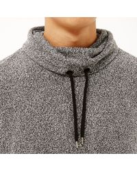 River Island | Gray Grey Cowl Neck Sweatshirt for Men | Lyst