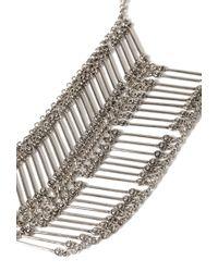 Forever 21 - Metallic Beaded Chevron Necklace - Lyst