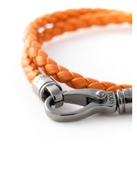 Tod's | Orange Braided Bracelet for Men | Lyst