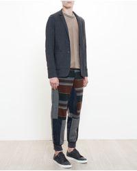 Kolor - Brown Panelled Joggers for Men - Lyst