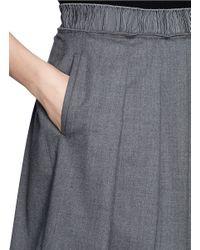 Armani - Gray Pleat A-line Skirt - Lyst