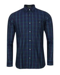 Ted Baker | Green Thepane Checked Shirt for Men | Lyst