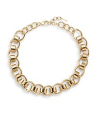 Nine West | Metallic Sculpted Link Necklace/goldtone | Lyst