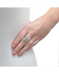 The Wildness Jewellery - Metallic Large Butterfly Ring - Lyst