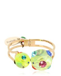 Sveva Collection | Yellow Cometa Hinge Bracelet | Lyst