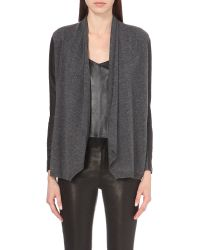 The Kooples | Gray Wool And Cashmere-blend Cardigan | Lyst