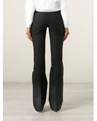 Filles A Papa | Black 'montana' Flared Trousers | Lyst
