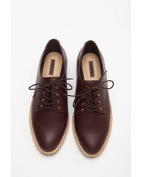 Forever 21 | Purple Faux Leather Oxfords | Lyst