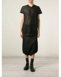 Julius - Black Cropped Drop Crotch Trousers for Men - Lyst