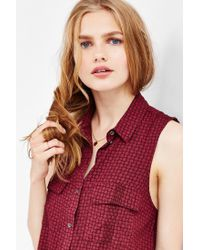 Kimchi Blue - Red Jasmine Trapeze Shirt Dress - Lyst