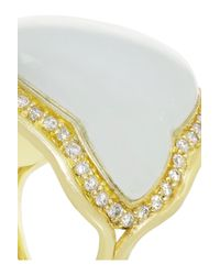 Fernando Jorge | Metallic 18karat Gold Diamond and Aquamarine Ring | Lyst