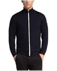 BOSS Green - Blue Sweatshirt Jacket: 'zeen' In New Wool for Men - Lyst