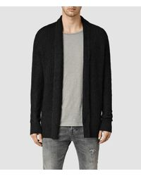 AllSaints - Black Montall Cardigan for Men - Lyst