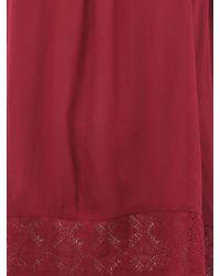 Jane Norman | Purple Crochet Gypsy Top | Lyst