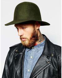 Brixton - Green Cason Structured Hat In Felt for Men - Lyst