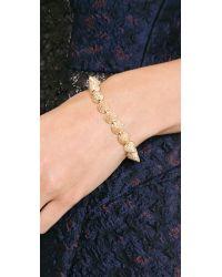 Eddie Borgo | Metallic Pave Cone Bracelet - Gold | Lyst