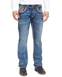 Rock Revival | Blue 'teo Alternative' Straight Leg Jeans for Men | Lyst