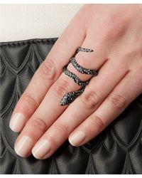 Alexis Bittar - Black Dark Grey Wrapping Serpent Cocktail Ring - Lyst