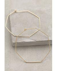 Anthropologie | Metallic Hexagon Hoops | Lyst