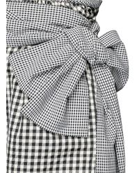 Isa Arfen - Black Wrap Belt Gingham Print Shorts - Lyst