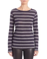 Saks Fifth Avenue | Blue Stripe Cotton-cashmere Long-sleeve Tee | Lyst