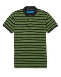 Marc By Marc Jacobs - Green Striped Cotton-Jersey Polo Shirt for Men - Lyst