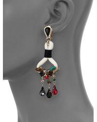 Etro - Multicolor Jeweled Chandelier Earrings - Lyst