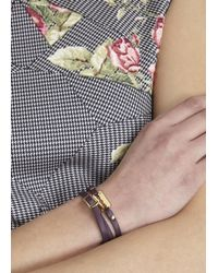 McQ | Purple Bordeaux Razor Leather Wrap Bracelet | Lyst