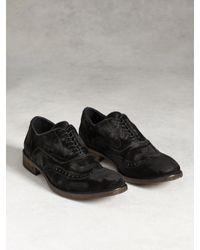 John Varvatos - Black Fleetwood Wingtip Boot for Men - Lyst
