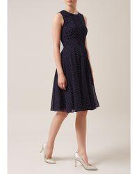 Hobbs | Blue Isla Dress | Lyst