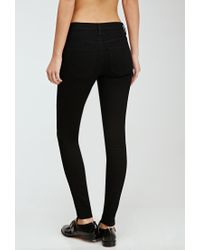 Forever 21 - Black Clean Wash Skinny Jeans - Lyst