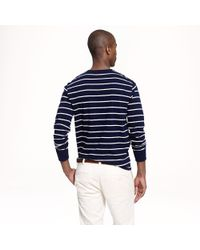J.Crew - Blue Longsleeve Pocket Tee in Navy Stripe for Men - Lyst