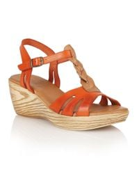 Lotus | Red Emiliano Wedge Sandals | Lyst