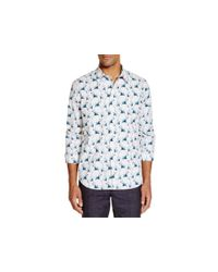 PS by Paul Smith | White Palm Tree Print Slim Fit Button Down Shirt for Men | Lyst