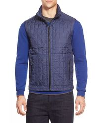 Bugatchi | Blue Quilted Zip Front Vest for Men | Lyst
