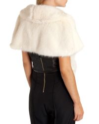 Ted Baker - White Faux Fur Cape - Lyst