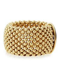 Roberto Coin | 18k Yellow Gold Mesh Ring Size 65 | Lyst