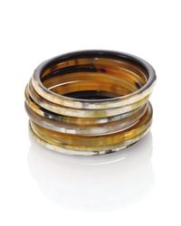 Nest | Metallic Natural Horn Seven-bangle Bracelet Set | Lyst