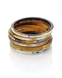 Nest | Metallic Natural Horn Seven-bangle Bracelet Set | Lyst