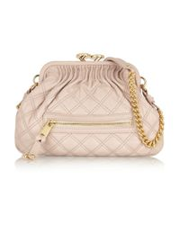 d0444cebe9f5 Marc Jacobs Little Stam Quilted Leather Shoulder Bag in Pink - Lyst