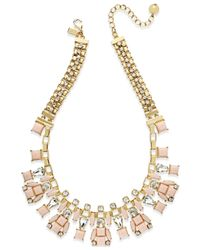 kate spade new york | Metallic Gold-tone Box Chain Statement Necklace | Lyst