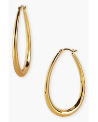 Argento Vivo | Metallic Teardrop Hoop Earrings | Lyst