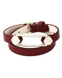 Tod's | Metallic Metal Pin Wrap Bracelet | Lyst