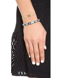 Marc By Marc Jacobs - Green Open Heart Friendship Bracelet Black - Lyst