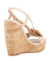 Roger Vivier - Natural Leather Wedge Sandals - Lyst