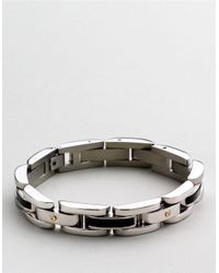 Lord & Taylor | Metallic Sterling Silver Mens Bracelet for Men | Lyst