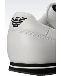 Armani Jeans | White Leather Low-Top Sneakers for Men | Lyst